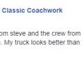 Facebook Testimonial-Classic Coachwork Collegeville Auto Body