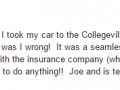 Google Review 2-Best Auto Body Shop Collegeville PA Classic Coachwork