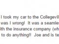 Google Review 2-Best Auto Body Shop Collegeville PA Classic Coachwork