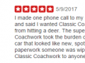 Yelp Review 9 - Best Auto Body Shop Collegeville PA Classic Coachwork