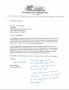 Ronald McDonald House letter