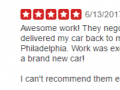 Yelp Review 11-Best Auto Body Shop Upper Darby Classic Coachwork