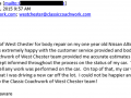 Email Review 4-Best Auto Body Shop West Chester PA Classic Coachwork
