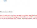 Email Testimonial 3- Auto Body Repair Shop West Chester PA