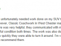 Google Review 1-Classic Coachwork West Chester Auto Body