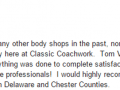Google Review 24-Best Auto Body Shop West Chester PA Classic Coachwork