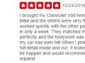 Yelp Review 11-Best Auto Body Shop West Chester PA Classic Coachwork